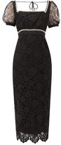 Self-Portrait Self Portrait Crystal-embellished Guipure-lace Midi Dress - Womens - Black