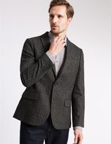 Marks and Spencer Slim Fit Textured 2 Button Jacket