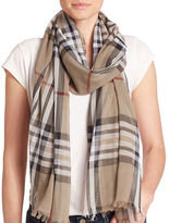 Lord & Taylor Cotton Plaid Scarf