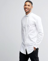 Lindbergh Shirt In Regular Fit With Contrast Trim
