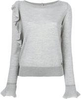 Twin-Set knitted ruffle top - women - Acrylic/Wool/metal - XS