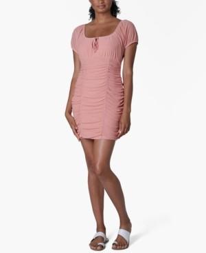 Ultra Flirt Juniors' Emma Ruched Sheath Dress