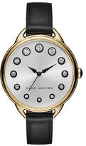 Marc Jacobs Betty Goldtone Stainless Steel Leather Strap Watch, SLMLG36IPGBLSTR