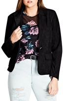City Chic Plus Size Women's Smooth Operator Faux Suede Jacket