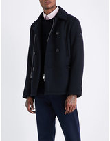 Armani Jeans Zip-detailed Twill Peacoat