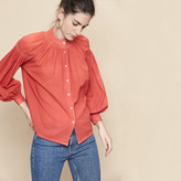 Maje Floaty blouse with smocking