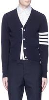 Thom Browne 'Trompe-l'ail' stripe sleeve cotton cardigan