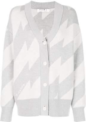 Proenza Schouler White Label PSWL broken stripe jacquard cardigan
