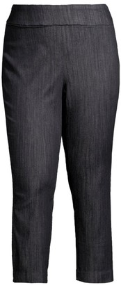 Nic+Zoe, Plus Size All Day Cotton Blend Pants