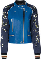 Coach embroidered bomber jacket - women - Lamb Skin/Polyamide/Polyester/Wool - 4