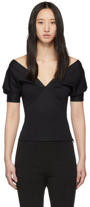 Haider Ackermann Black Mankora Off-Shoulder Top