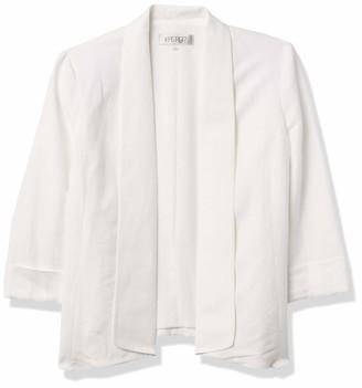 Kasper Women's Linen Fly Away Lined Jacket with Cuff Sleeves