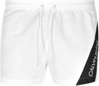 Calvin Klein Logo Swim Shorts White