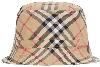 Burberry Check Cotton Gabardine Bucket Hat