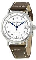 Hamilton Women's 36mm Brown Leather Band Steel Case Automatic -Tone Dial Analog Watch H78215553