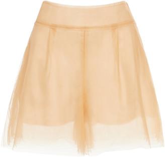 Oscar de la Renta Tulle Shorts