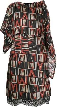 Antonio Marras Asymmetric Printed Dress
