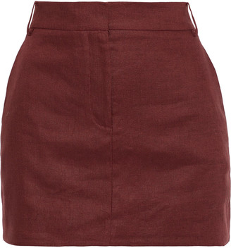 Tibi Linen-canvas Mini Skirt
