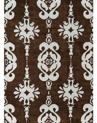 Momeni Lil Mo Classic Baby Damask Cotton Hand Hooked Baby Blue Area Rug 8' X 10'