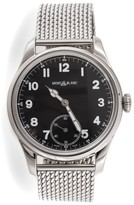 Montblanc 1858 Manual Small Second 112639 Stainless Steel Mens Watch