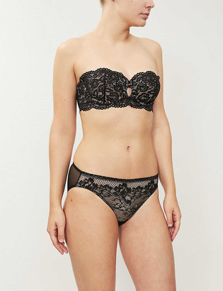 B.Tempt'd Ciao Bella scalloped lace bandeau bra