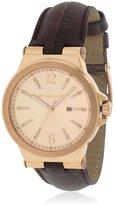 Michael Kors Women's Leather Band Gold Tone Steel Case Quartz Watch Mk2602
