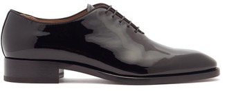 Christian Louboutin Corteo Patent-leather Oxford Shoes - Black