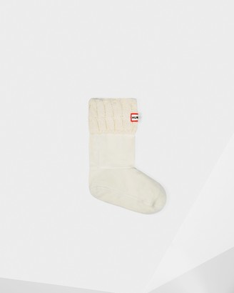 Hunter Cable Knitted Cuff Short Boot Socks