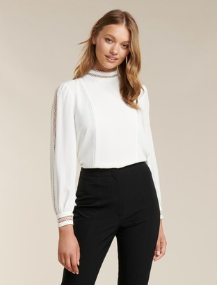 Ever New Aurora Petite Trim Detail Blouse