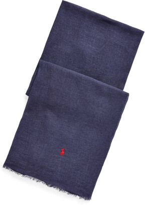 Ralph Lauren Fringe Virgin Wool Scarf