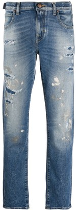 Jacob Cohen Distressed Straight-Leg Jeans