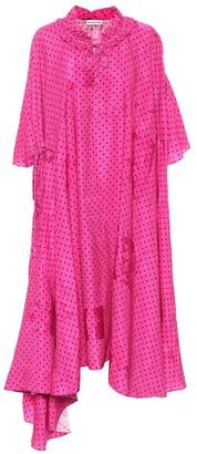 Balenciaga Polka-dot midi dress