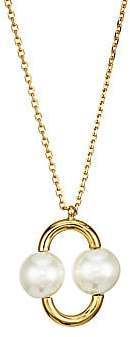 Kate Spade Women's 12K Yellow Goldplated & Imitation Pearl Pendant Necklace