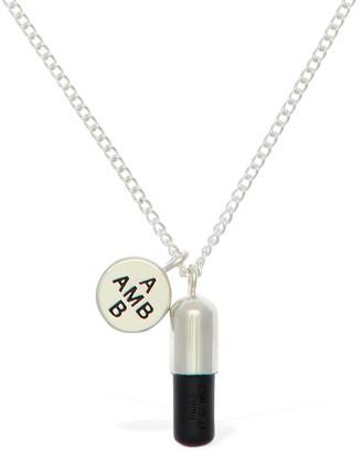 Ambush Logo & Pill Charm Long Chain Necklace