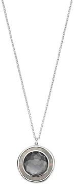 Ippolita Sterling Silver Ondine Hematite, Clear Quartz & Black Shell Medium Circle Pendant Necklace, 18
