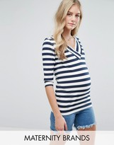 Mama Licious Mama.licious Mamalicious Maternity Striped Top