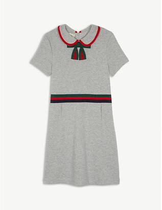 Gucci Web striped cotton dress 4-12 years