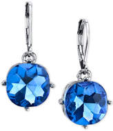 2028 Silver-Tone Blue Stone Drop Earrings, a Macy's Exclusive Style