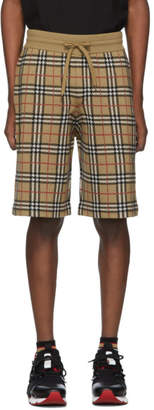 Burberry Beige Check Flynn Shorts