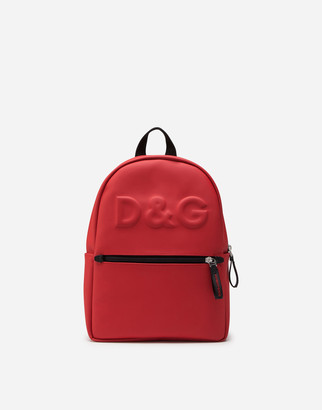 Dolce & Gabbana Neoprene Backpack With Heat-Stamped Logo