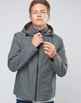 Timberland Hooded Windbreaker Jacket Water Resistant In Grey