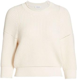 Frame Drop Needle Crewneck Sweater