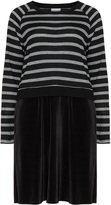 Junarose Plus Size Striped knit dress