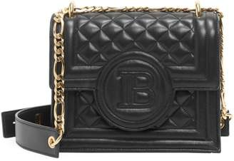 Balmain B-Bag Quilted Leather Shoulder Bag