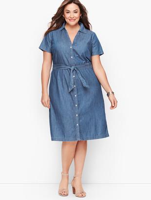 Talbots Plus Size Exclusive A-Line Dress - Denim