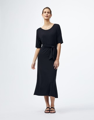 Lafayette 148 New York Midweight Matte Jersey Rollins Dress