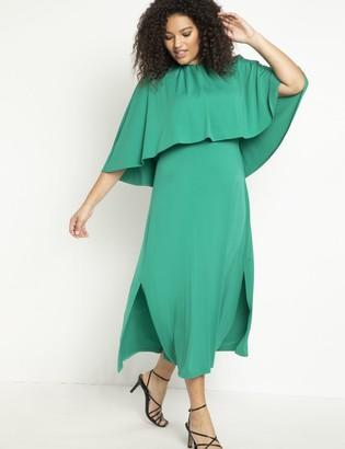 ELOQUII Cape Midi Dress