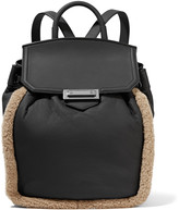Alexander Wang Prisma shearling-trimmed leather backpack