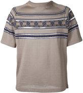 Kolor striped detail jumper - men - Cotton/Viscose/Nylon/Wool - 1