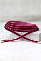 LuLu*s Welcome to My Layer Beige Velvet Wrap Necklace